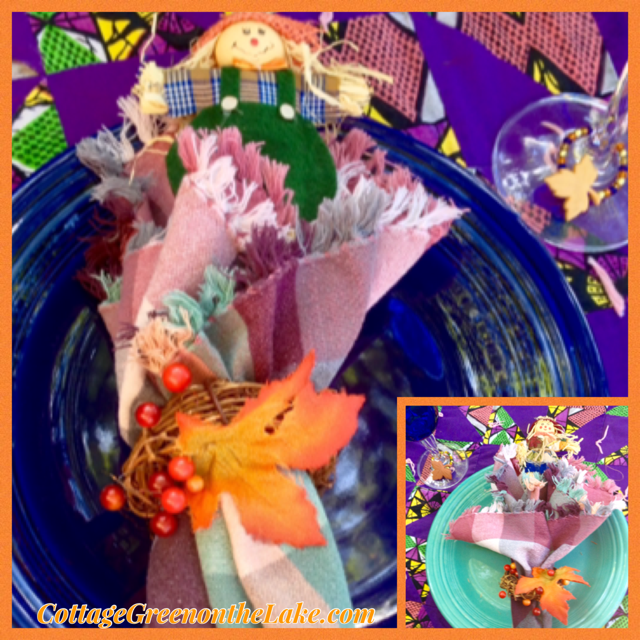 Scarecrow Themed Tablescape – perfect for autumn get-together's … plus DIY paper favor cones