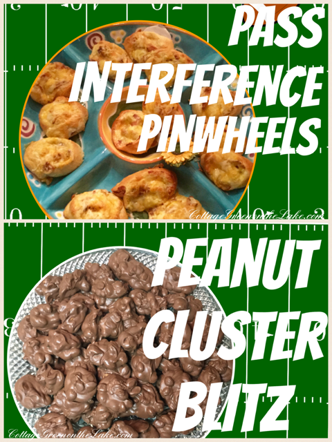 "Score with these Super Bowl Snacks … ""Pass Interference Pinwheels"" and ""Peanut Cluster Blitz!"""