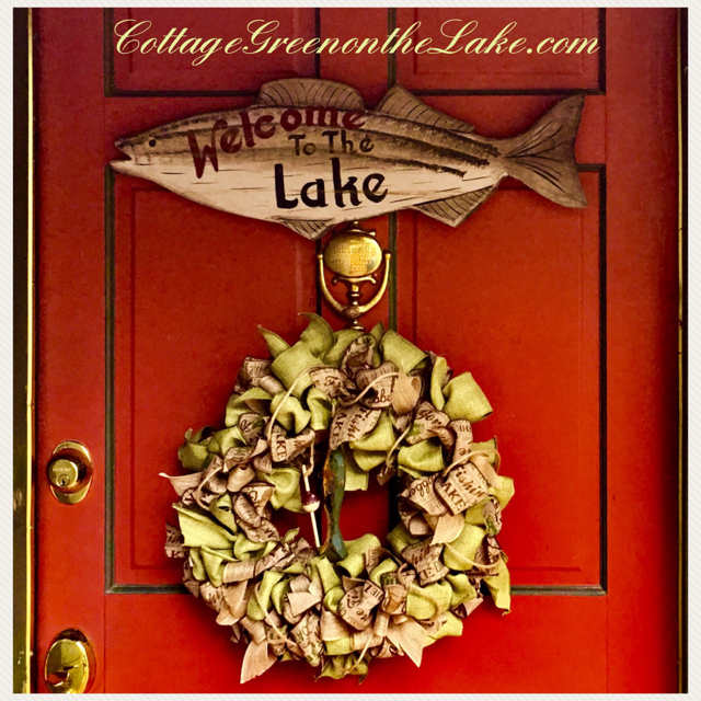 Welcome to the Lake … DIY Wreath for the Summer!