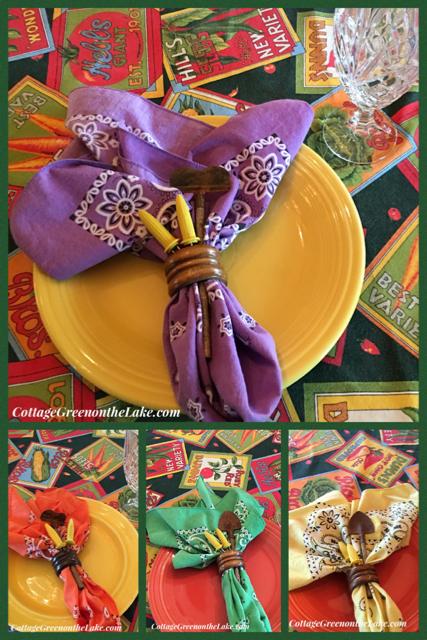 fiestaware collage
