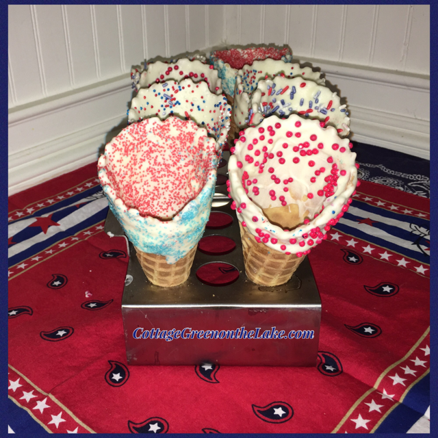 Easy Summer Desserts … Scoops of Ice Cream in Gourmet Cones & Cream Cheese Tartletts by Trenda