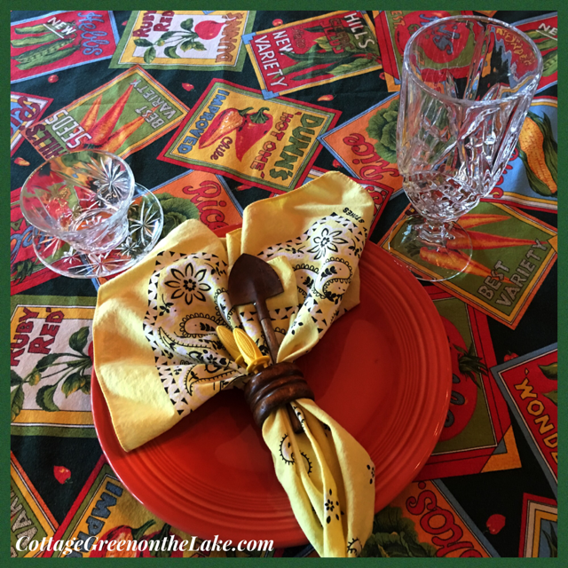 """To Market, to Market"" and Garden Tablescape …….. by Trenda"