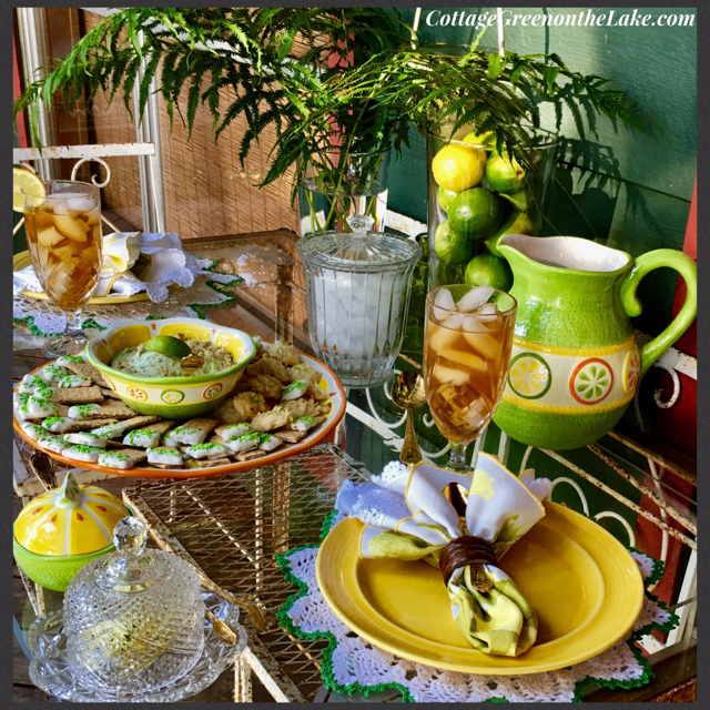 """""""She put the lime in the coconut …"""" Coconut Key Lime Macaroons and Cool Key Lime Dessert Dip & Dippers ……………….. byTrenda"""