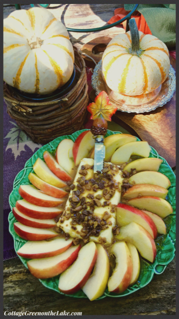 closeup of apple dip