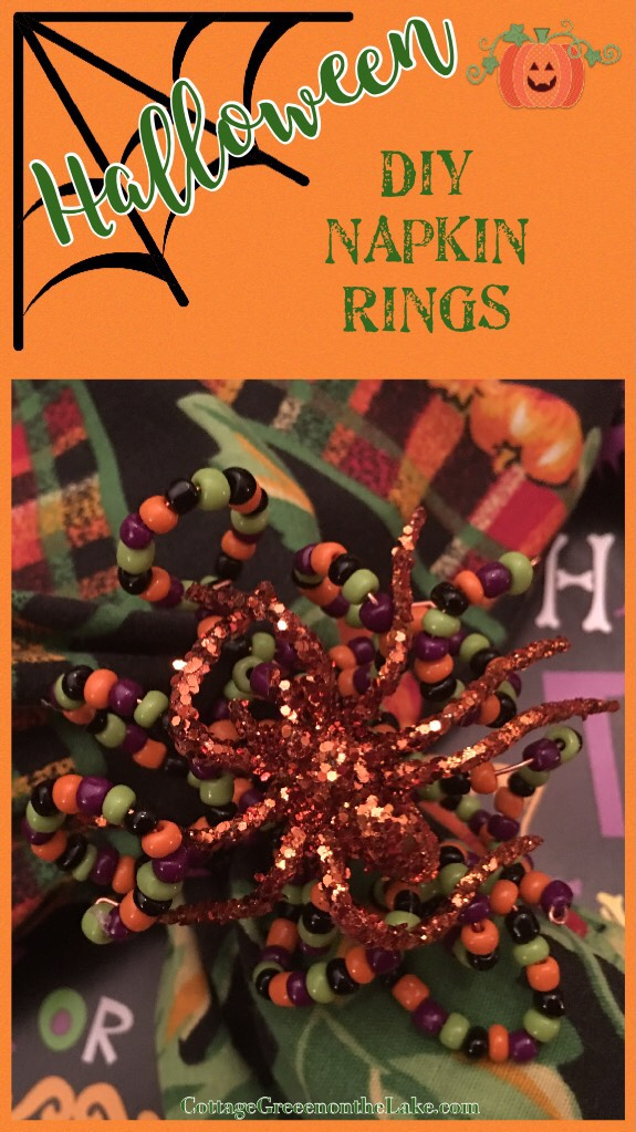 Halloween DIY Napkin Rings  …………. by Trenda