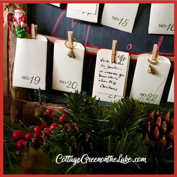 Link Ella Claire Free Printable Vintage Christmas Advent Calendar For Complete Instructions And A Free Printable For Making The Envelopes And Cards