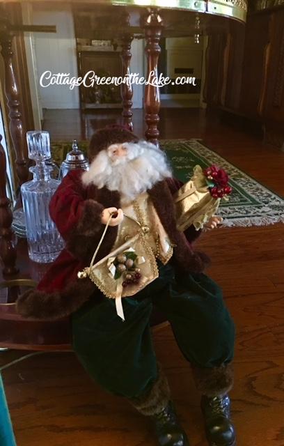 tea cart Santa