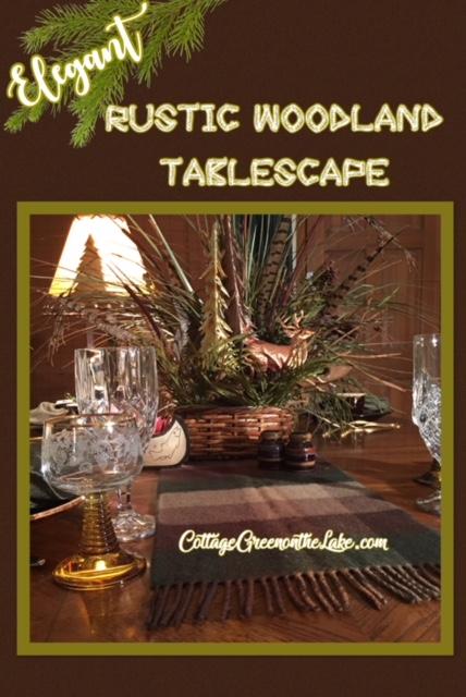 Elegant Rustic Woodland Tablescape