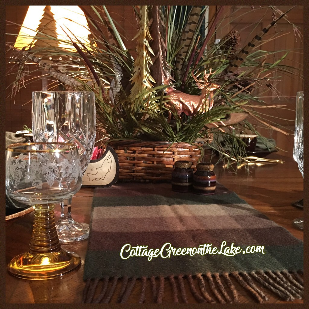 Elegant Rustic Woodland Tablescape … DIY Centerpiece & Rustic NapkinRings