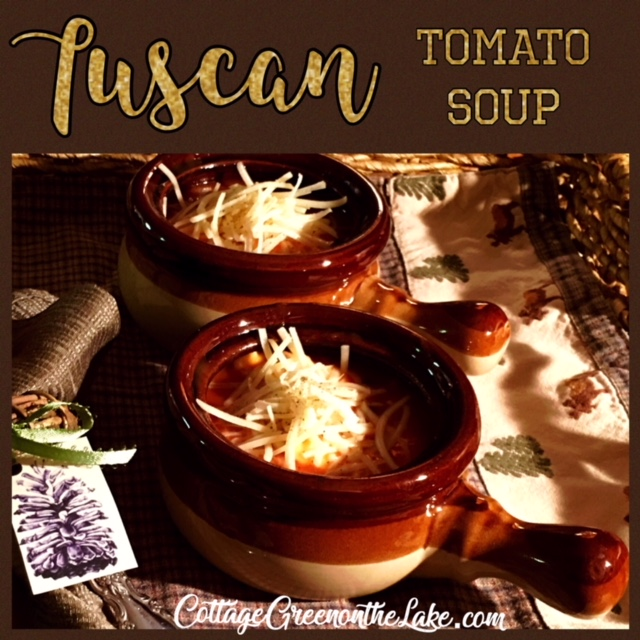 EASY RECIPE for Tuscan Tomato Soup … and Winter Weather