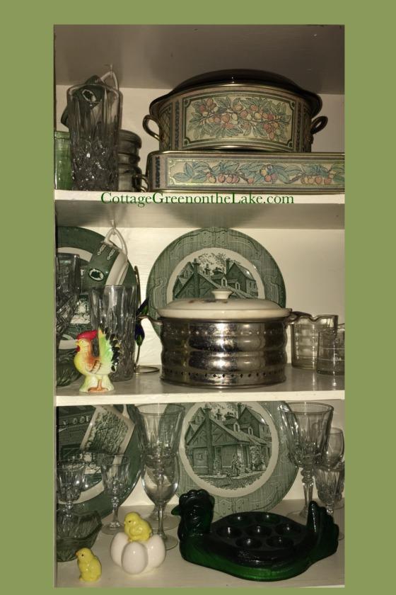 moss green shelf