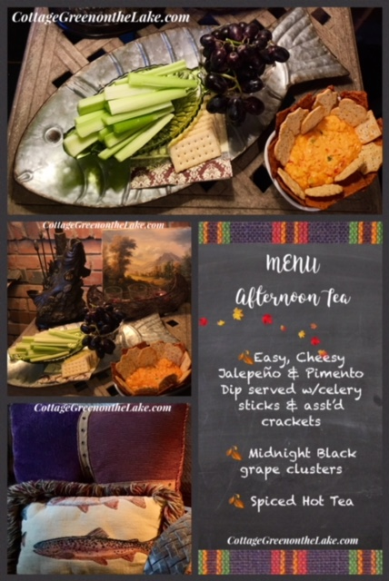 The Cottage Porch in Autumn and … Recipe for Easy, Cheesy Jalepeno & PimentoDip