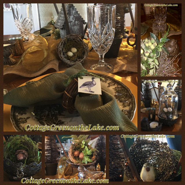 Winter Woodland Tablescape