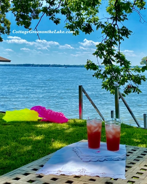 Pink Lemonade Pineapple Punch Recipe made for Outdoor Tablescape and Garden Drink Station